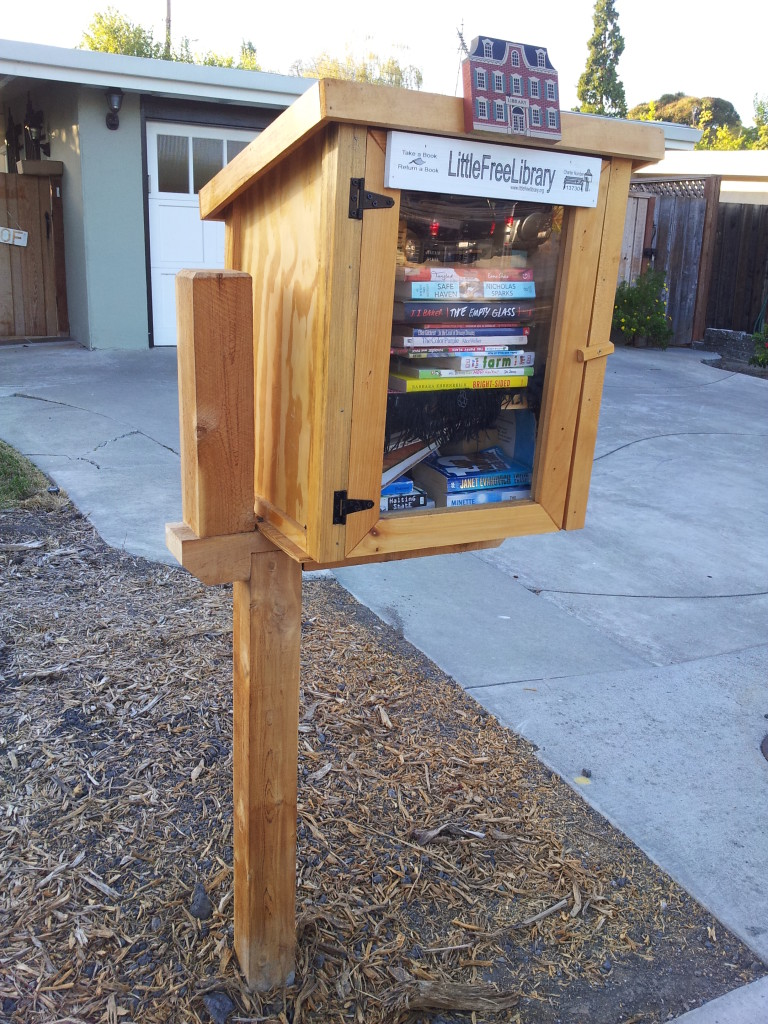 Alice's Little Free Library on Lassen was the first in the neighborhood.