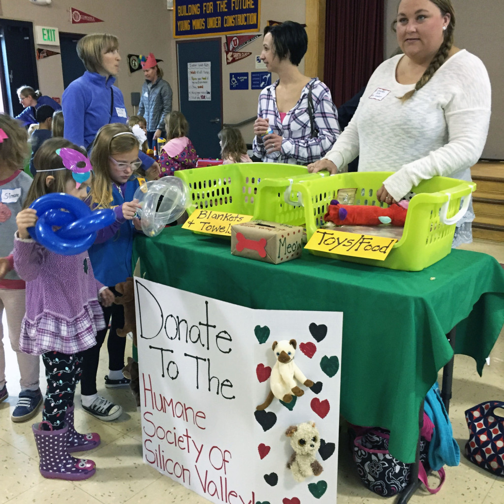 The school's Brownie and Daisy Girl Scout troop collected pet-care donations for the Humane Society.