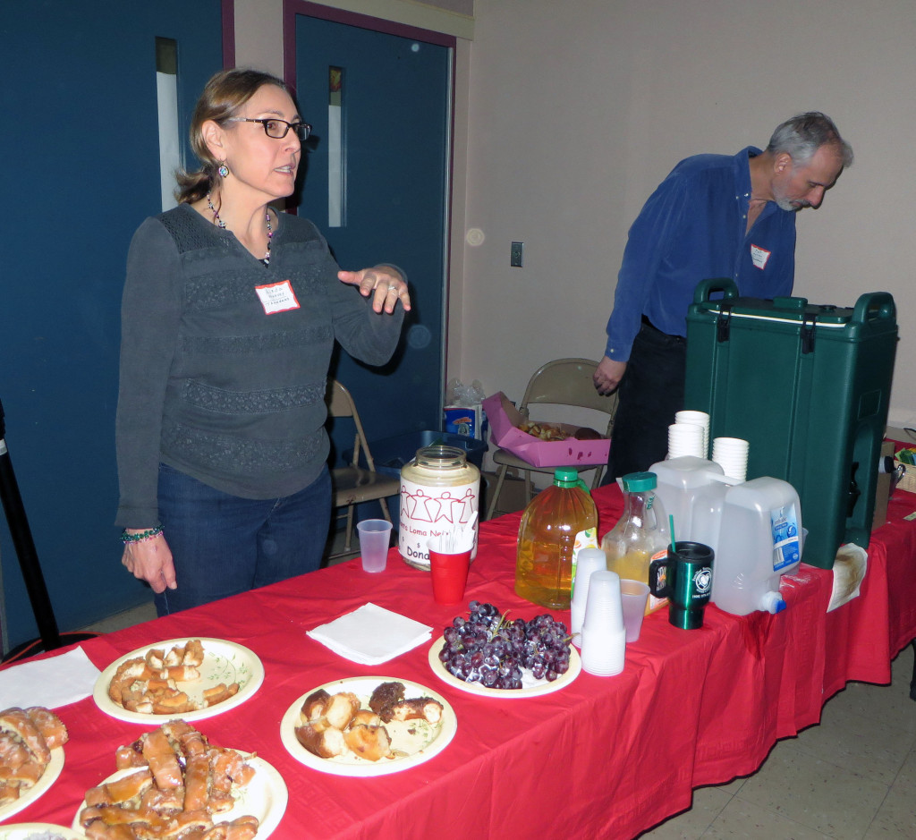 Linda & Pat Harvey set up refreshments.