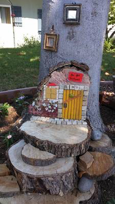 And is near a fairy door.